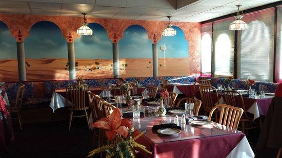 Cafe Paprika: Inside the restaurant.