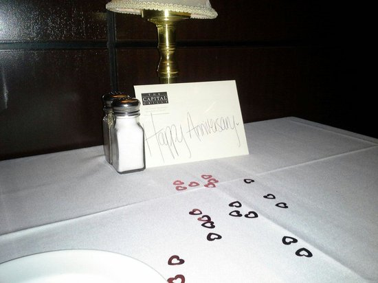 Capital Grille: Decorated table for our anniversary