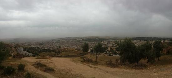 Medina of Fez: View of the Medina from Hotel Merinides