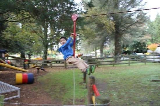 Rotorua Hideaway Lodge : Child enjoyed this play area :)