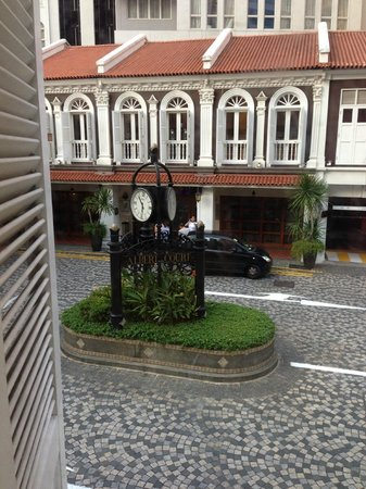 Village Hotel Albert Court by Far East Hospitality: Hotel entrance clock tower