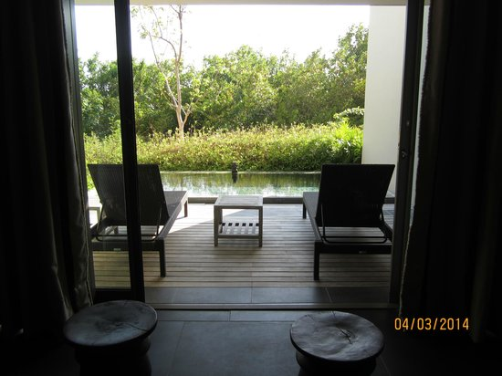 NIZUC Resort and Spa : Our terrace and plunge pool