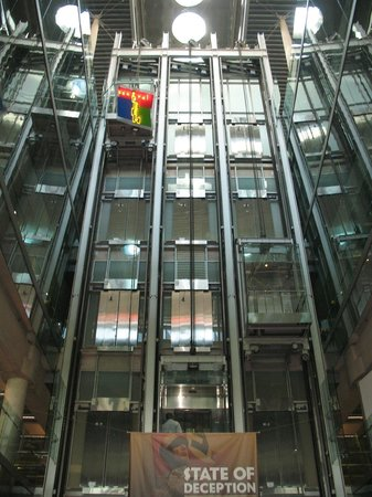 Burton Barr Central Library: Glass elevator