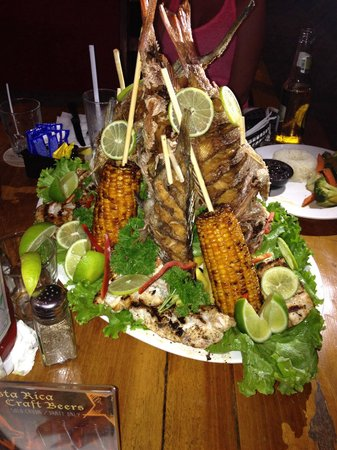 Los Amigos : Wonderful display of our mound full of snapper and grouper caught the day of. Also consist of sm