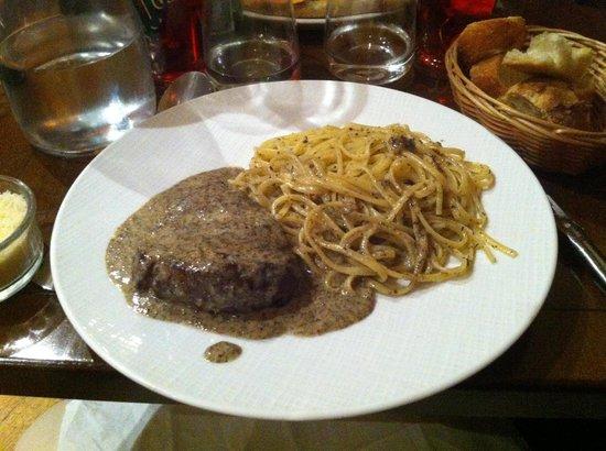 Bellagio : Entrecote à la truffe.