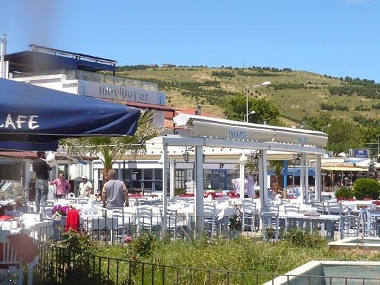 Aika Hotel Bozcaada: the harbour cafes in Bozcaada