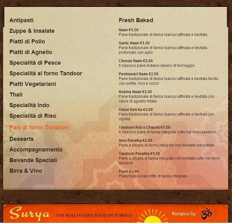 Ristorante Indiano Surya: Pane indiano