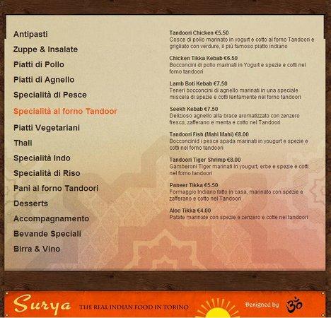 Ristorante Indiano Surya: Specialita al Tandoori