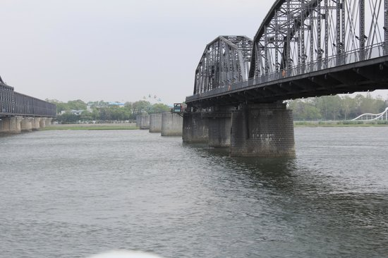 Dandong, Kina: Broken Bridge Yalu river