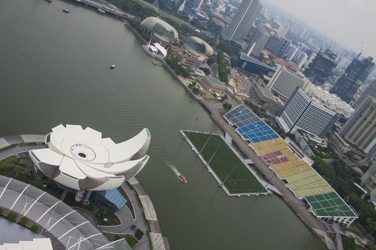 Marina Bay: A view from top of the roof, a bit skewed to git more into the frame