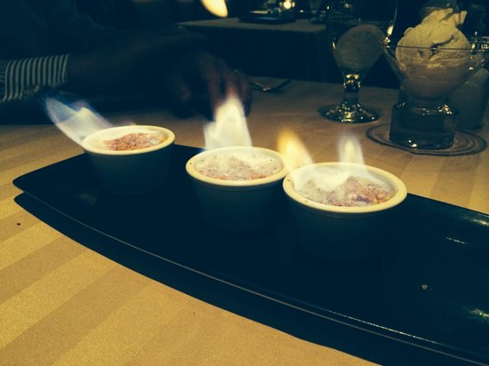 Sterling's Seafood Steakhouse: Flaming Creme brûlée-who knew?! Nothing else will ever compare.