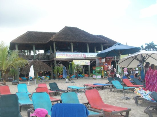 White Sands Negril: margaritaville- view from the beach