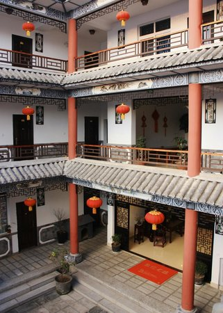 Yuan Lai Ge Inn: The hotel from the balcony