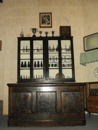 Malta Maritime Museum: Canteen reconstruction with actual furnshings
