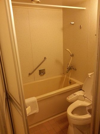 Kinugawa Plaza Hotel: Bathroom with tub