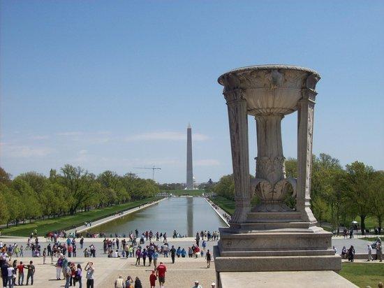 Lincoln Memorial et Reflecting Pool : Dalla cima della scalinata