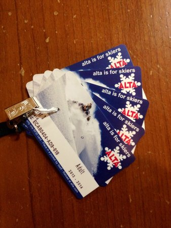 Alta Ski Resort: Alta RFID Cards
