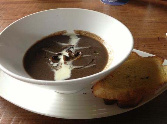 The Brazzo House: mushroom soup with truffle oil