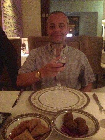 Marjan at Waldorf Astoria Ras Al Khiamah: Enjoying our starters