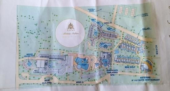 Atrium Palace Thalasso Spa Resort & Villas : hotel map