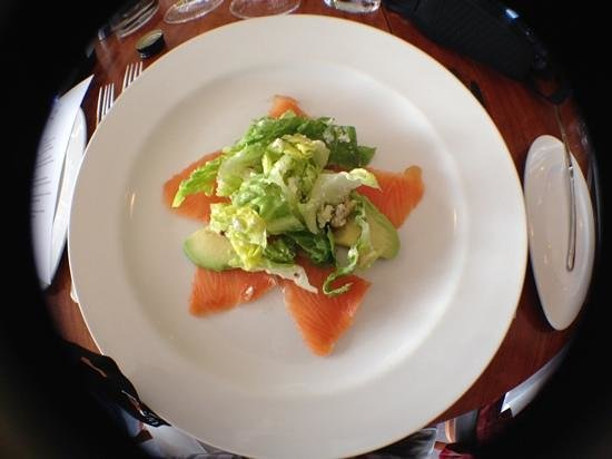 Upstairs at Hollick: Trout salad