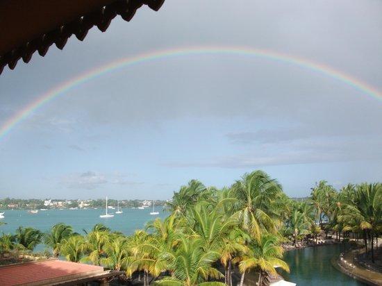 Mauricia Beachcomber Resort & Spa: Rainbow over Grand Baie