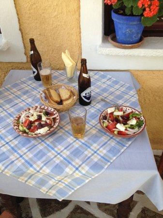 Vagia Hotel: the Greek salad enjoy