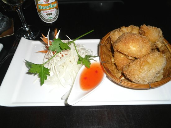 Sukhothai Harrogate : Starter - Breaded mushrooms with chilli dip