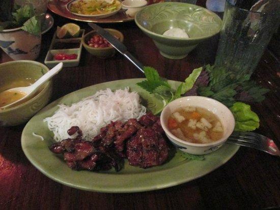 Madame Hien Restaurant: my pork dish