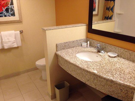 Courtyard Newark Downtown : Clean Bath with Basics