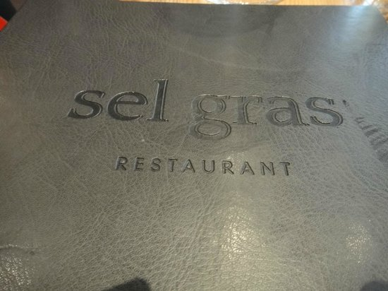 Restaurant Sel Gras : Menu Cover