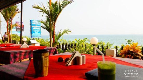 Varkala Beach: ABBA Restaurant, mochten wir sehr gut