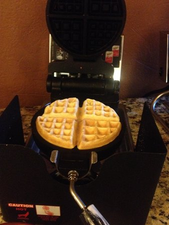 Homewood Suites by Hilton Austin-Arboretum / NW: some flour batter for us to DIY  own waffle :D