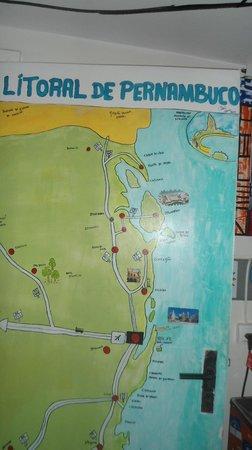 Piratas da Praia Hostel CoWorking : area familiar