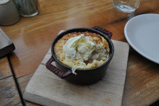 Terrain Garden Cafe : Homemade bread pudding.