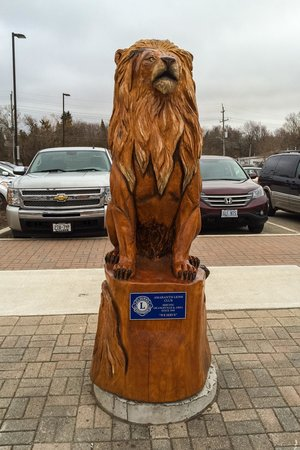 Orangeville, Canada: A Carving Sponsored by the Lions Club