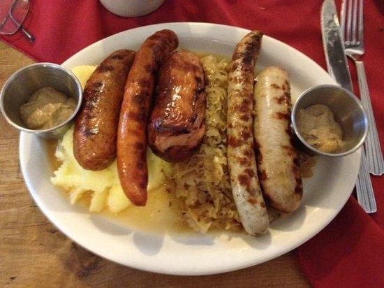 Rheinblick German Restaurant: Metzger sausage platter