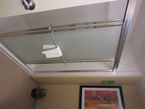 Hampton Inn & Suites Charles Town: Sliding shower doors