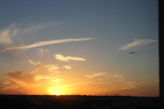 Hilton Austin Airport: An awesome view from room. Sunset and flight take off. Very beautiful