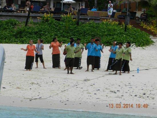 Matamanoa Island Resort: recibimiento