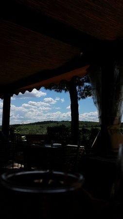 Trattoria Borgo di Racciano: Vista dal tavolo