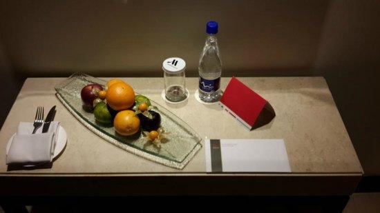 Bogota Marriott Hotel: ASÍ ME RECIBIERON EN LA HABITACIÓN