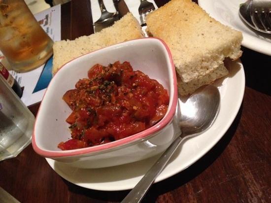 Bistro One Zero Three: eggplant salsa