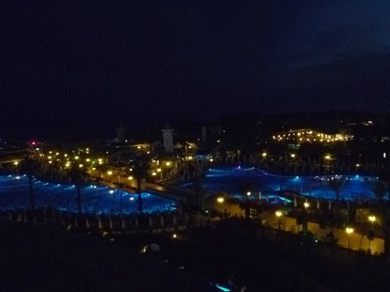 Delphin Imperial Hotel Lara : nighttime view from our balcony