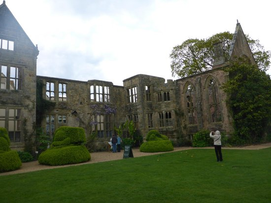 Nymans Gardens and House: Nyman House - part damaged in the fire