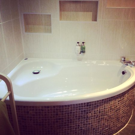 The Lovat, Loch Ness: Bath in our room, with TV!