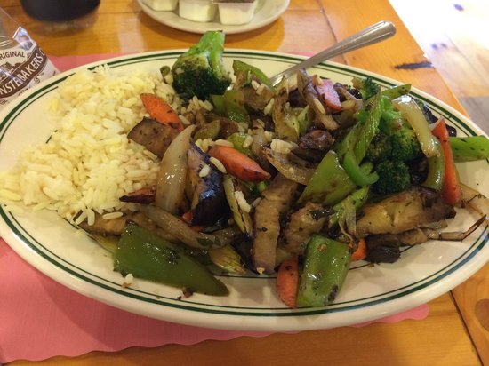 Trading Post Restaurant: Special: Eggplant Veggie Stirfry
