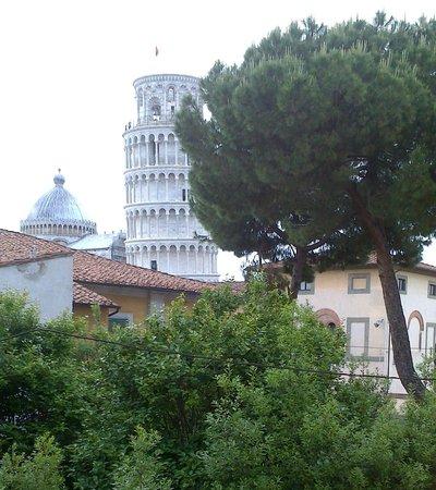 Hotel Villa Kinzica: Tower through our window.