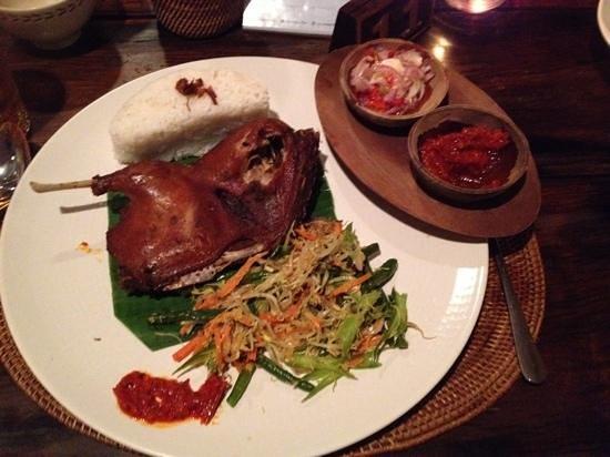 Pregina Warung: the crispy duck!