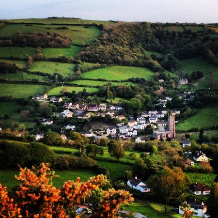 Cranleigh House: Looking down on Combe martin from one of the many walks in this area.